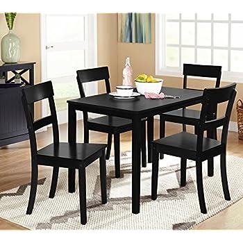 Amazon.Com - 5Pcs Dining Table Set Pine Wood Kitchen Dinette Table