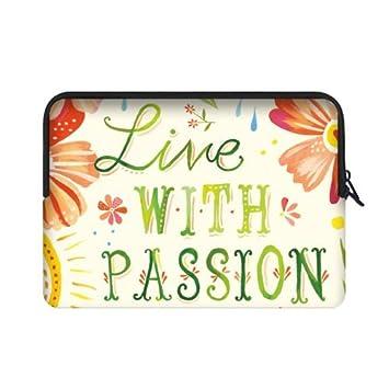 """Alta calidad barato – vivir con pasión Daisy flor bolsas para portátiles 15,6 """""""