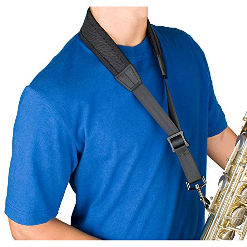 Protec NLS310M 22-Inch Ballistic Neoprene Less-Stress Saxophone Neck Strap with Coated Metal Hook (Protec Sax Neck Strap)
