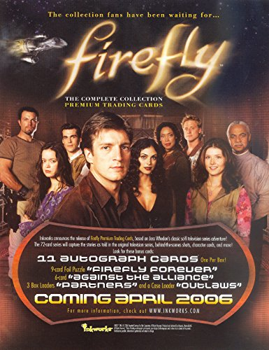 FIREFLY THE COMPLETE COLLECTION 2006 INKWORKS PROMO PROMOTIONAL SELL SALE -