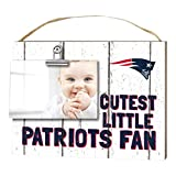 "KH Sports Fan 1001101625 10""x8"" New England Patriots Clip It Weathered Baby Logo NFL Photo Frame"