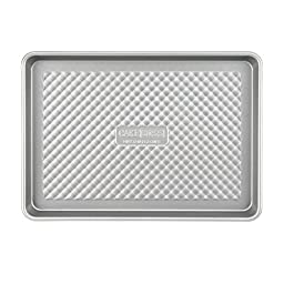 Cake Boss Professional Nonstick Bakeware 9-Inch by 13-Inch Jelly Roll Pan, Silver