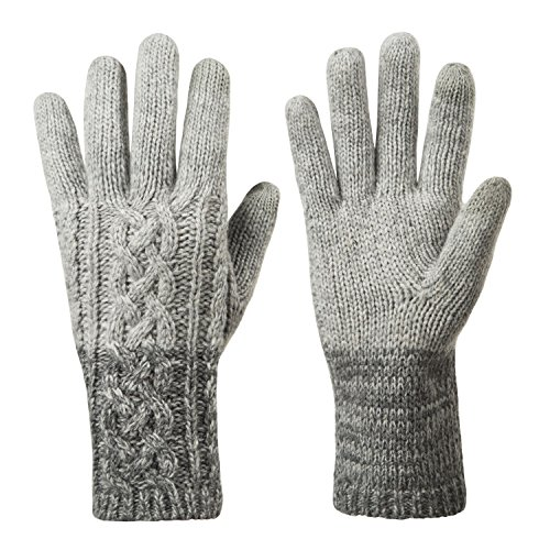 Winter Warm Knit Gloves for Women, Wool Touchscreen Texting Thick Gloves for Beanies Matching by REDESS (Knit Women Gloves)