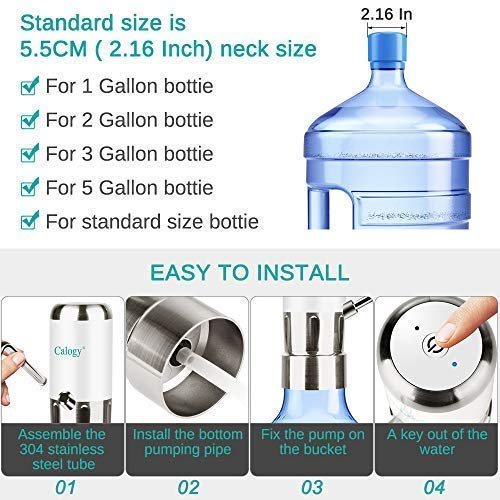 Amazon.com: Calogy Electric Drinking Water Dispenser Pump for 5 Gallon Bottle: Kitchen & Dining