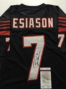 Autographed/Signed Boomer Esiason Cincinnati Bengals Black Football Jersey JSA COA