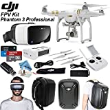 "DJI Phantom 3 Professional FPV ""Birds Eye"" Bundle: Includes Zeiss One VR Headset, SanDisk 32GB Ultra MicroSD Memory Card and more..."