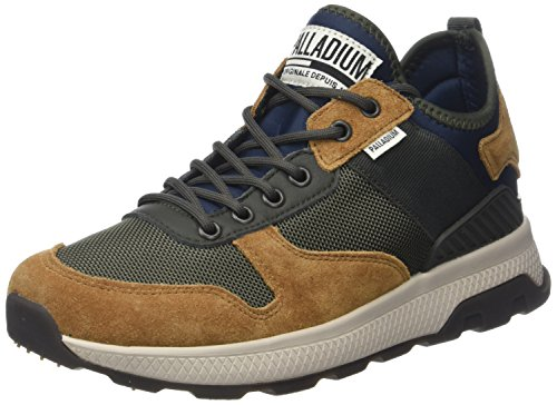 Palladium Men's Axeon Army Runner Homme Trainers, Mood Indigo Multicolour (Mood Indigo/Dusty Olive/B M58)
