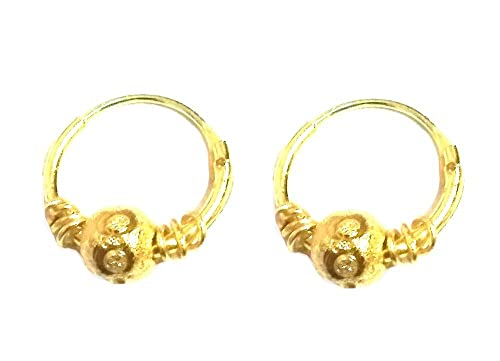 My Shop Gold Plated Bali Earrings Jewellery For Children Small Girls