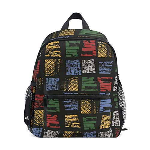 MUOOUM Geometry Block Line Math Colorful Kids Backpack Pre-School Toddler Bag Travel Daypack -