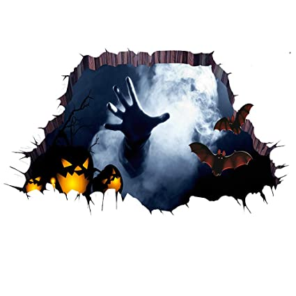 Amazon Com Wmdecal Removable Horror Horrible Halloween Wall Decal