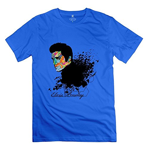 Price comparison product image The King Elvis Presley Head Tee Size XS RoyalBlue