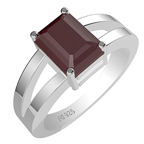 1.70ct Genuine Amethyst Moldavite Citrine Garnet Octagon Solid .925 Sterling Silver Rings