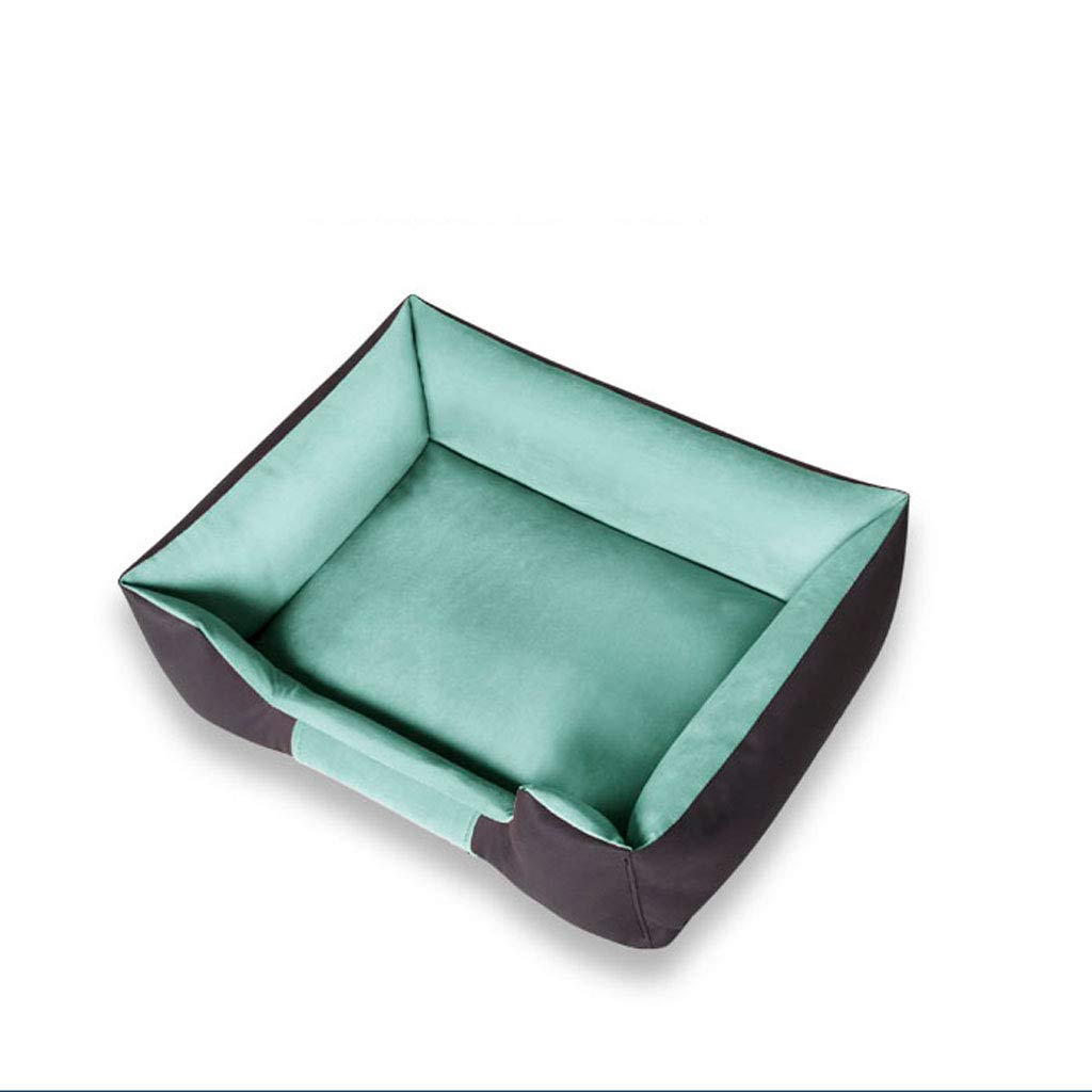 GREEN 110x75cm GREEN 110x75cm YangMi pet Bed- Pet Nest Four Seasons Removable and Washable Small and Medium Kennel Warm Pet Bed (color   Green, Size   110x75cm)