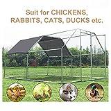 """PawHut 149"""" Chicken Coop Galvanized Metal Hen House"""