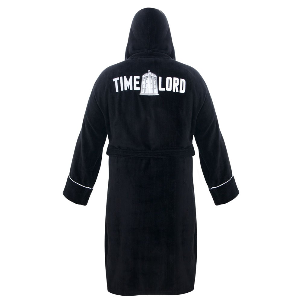 Amazon.com  Doctor Who Time Lord Hooded Black Cotton Bath Robe 26ab37087