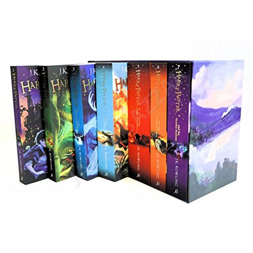Harry Potter 7 Books Set The Complete Collection Paperback Box Set J.K Rowling by Unbranded