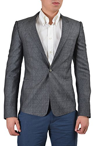 Gianni Versace Men's Multi-Color Wool Silk Sport Coat Blazer US 38 IT ()