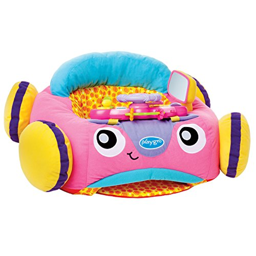 Playgro Music and Lights Comfy Car (Pink) for baby infant toddler