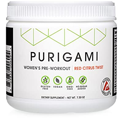 Natural Performance Pre-Workout for Women – Next-Gen Clean Powder, Fat-Burning, Tri-Source Energy, Vegan, Non-GMO, Natural Flavors and Sweeteners by Purigami – 30 servings
