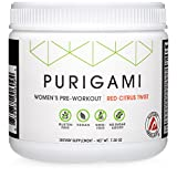 Natural Performance Pre-Workout for Women - Next-Gen Clean Powder, Fat-Burning, Tri-Source Energy, Vegan, Non-GMO, Natural Flavors and Sweeteners by Purigami - 30 servings