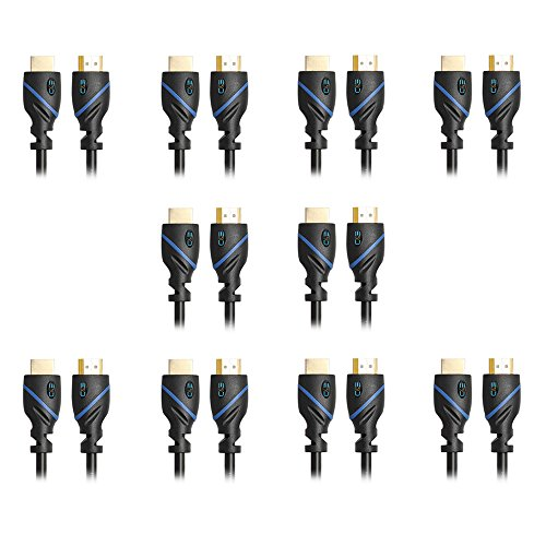 15 Feet HDMI Cable - Latest Version, 10-Pack