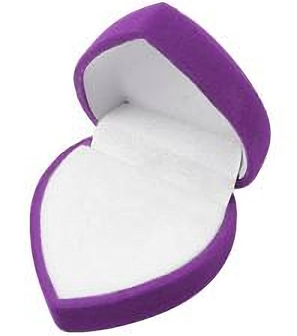 EYS JEWELRY/® Schmuck-Etui f/ür Ring 51 x 51 x 37 mm Samt lila-violett Ring-Box Schachtel Schatulle Geschenk-Verpackung EYSBOX Herz