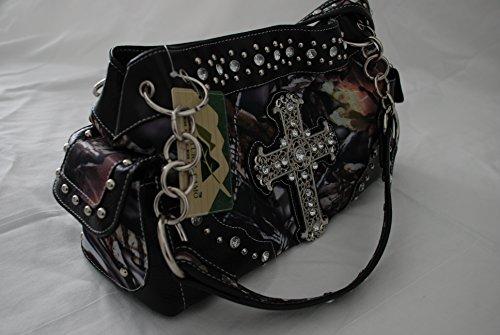 Black Camo Fashion Cross Purse with Rhinestones oR5QtFa8
