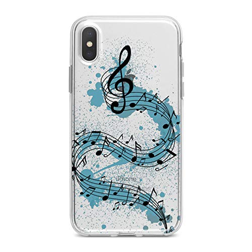 Lex Altern TPU Case for iPhone Apple Xs Max Xr 10 X 8+ 7 6s 6 SE 5s 5 Watercolor Melody Design Flexible Music Soft Art Slim fit Print Melody Clear Treble Clef Smooth Gift Staff Lightweight Cover Song]()
