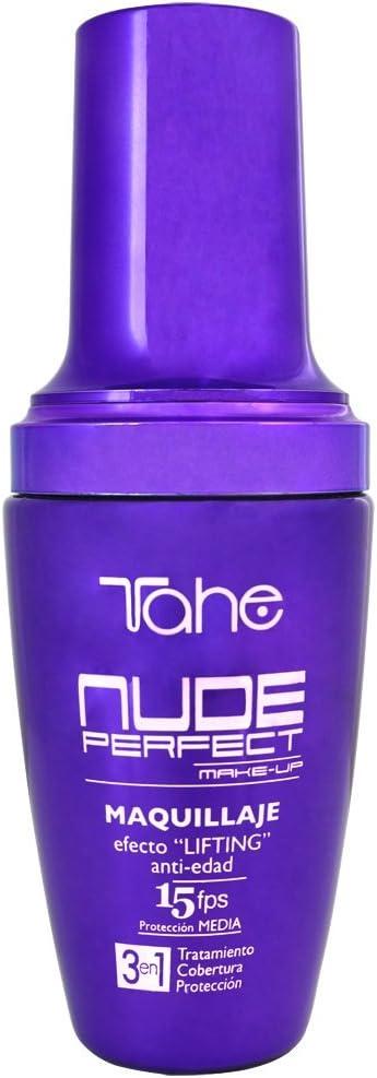 Tahe Nude Perfect Maquillaje/Base de Maquillaje, Efecto Lifting, Cobertura Alta, F.P.S 15, Nº 40, 40 ml