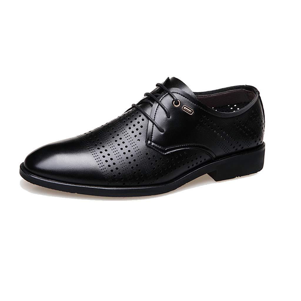 LIXIYU Zapatos de Cuero con Punta en Punta para Hombre de Oficina ...