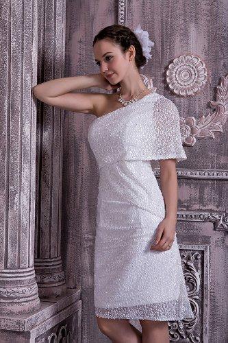 GEORGE neue moderne Hochzeitskleid Brautkleider Weiß leger Abendkleid kurze BRIDE Hochzeitskleider rqEA5rg
