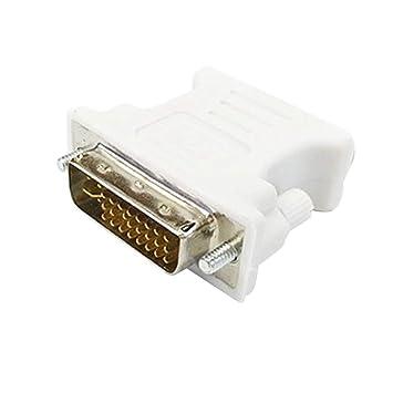 NoyoKere DVI-I 24 + 5 Macho a HD 15 Pin VGA SVGA Tarjeta de ...