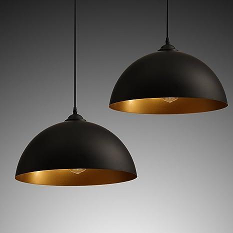 ZOOVQI 2 X Lampada a Sospensione Stile Vintage Industriale ...