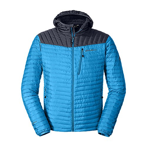 Eddie Bauer Men's MicroTherm StormDown Hooded Jacket, Wave Regular XXL by Eddie Bauer