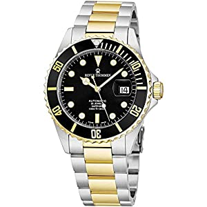 Best Epic Trends 51lwAf1aWeL._SS300_ Revue Thommen Mens Diver Watch Automatic Sapphire Crystal - Analog Black Face Two Tone Metal Band Stainless Steel Dive…