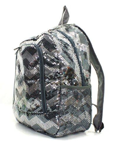 Chevron Sequins Backpack/bookbag Gray (Chevron Sequin Backpack)