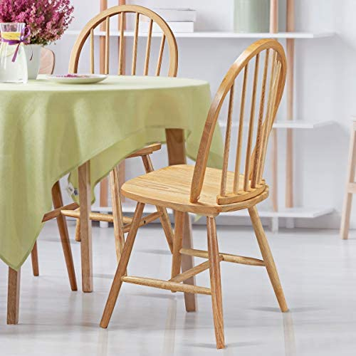 home, kitchen, furniture, kitchen, dining room furniture,  chairs 8 discount Giantex Set of 4 Windsor Chairs, Country Wood promotion