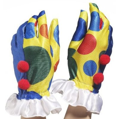 Clown with Pom Poms Gloves (Lady Clown Costume)