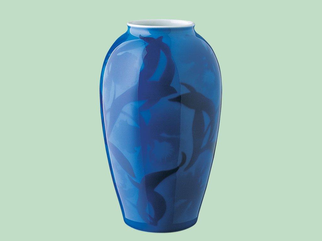 香蘭社 染カトレア 花瓶 687-NNO9 B00H39QTZQ
