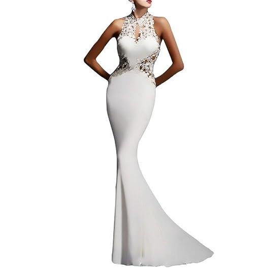 Kleid Prinzessin Tüll Dreamskull Abendkleid Lang Mermaid Brautkleid Abendmode Hochzeit Fishtail Rückenfrei Fischschwanz Party Sexy Bustierkleid 4Lqj35AR