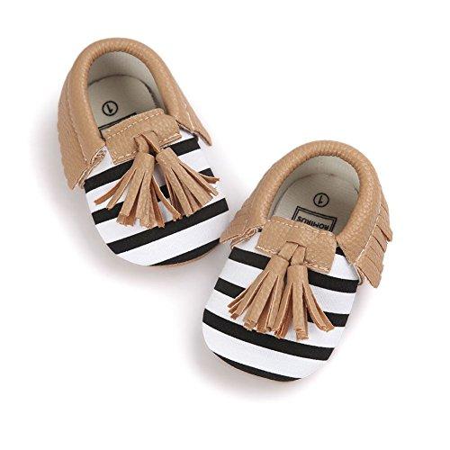 ESHOO recién nacido bebé suave soled zapatos de cuna Prewalker 0–