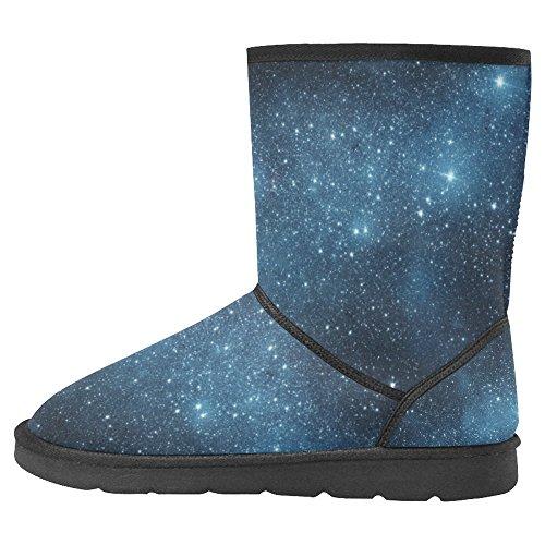 Snow Stivali Da Donna Di Interestprint Design Unico Comfort Invernale Stivali Galaxy Stars Multi 1