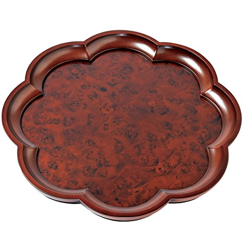 Scalloped Burlwood Tray 15