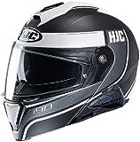 HJC i90 Modular Motorcycle Helmet With Sena 10B Bluetooth Headset Davan MC10SF X-Large