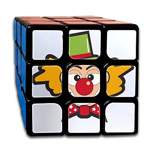 Clown With A Green Hat Speed Cube Puzzle Brain Training Game Match Puzzle Toy For Kids Or Adults Speed Cube Stickerless Magic Cube - Cute Rodeo Clown Costume
