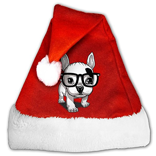 Wopee Eyeglasses Dog Merry Christmas Santa Christmas Santa Hat Holiday Theme Hats 3D Graphic Printed For Adults And - Printed Eyeglasses 3d