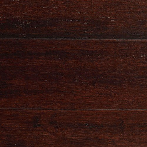 oven Dark Mahogany 3/8 in. x 5-1/8 in. x 36 in. Click Engineered Bamboo Flooring (25.625 sq.ft/case) ()