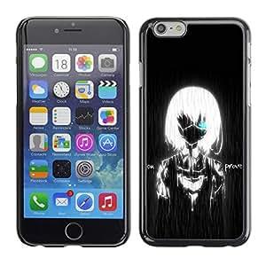 PC/Aluminum Funda Carcasa protectora para Apple Iphone 6 Black White Girl Boy Rain Robot / JUSTGO PHONE PROTECTOR