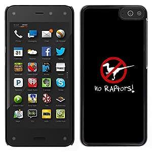 For Amazon Fire Phone , S-type® Raptors Clever Poster Dinosaur Black - Arte & diseño plástico duro Fundas Cover Cubre Hard Case Cover