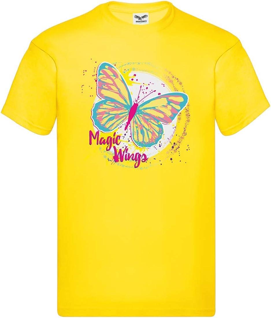 Camiseta para hombre y hombre con alas mágicas con mariposas ...